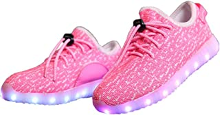 E Support Kid's USB Charging Flashing Luminous Sneakers Night LED Light Up Sports Dancing Shoes for Boys Girls