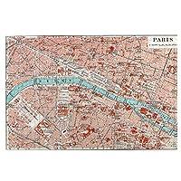 1000ピース ジグソーパズル パリのマップ ジグソーパズル 木製パズル Puzzles 50x75cm(6歳以上が適しています)