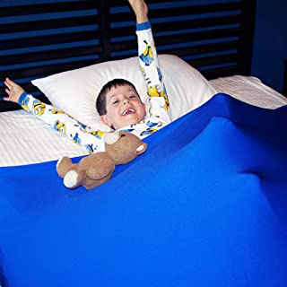 Huggaroo Pouch Sensory Compression Bed Sheet for Children | Machine-Washable | Weighted Blanket Alternative (Twin Size, Royal Blue)