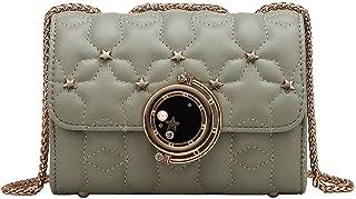 Remanlly Fashion Women' Solid Color Leather Shoulder Bag Messenger Bag Handbag Crossbody Bags Coin Purse
