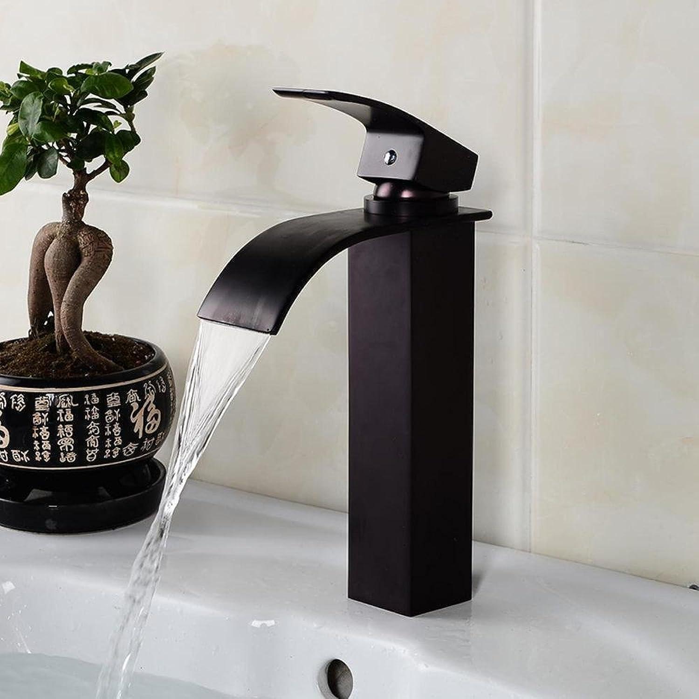 Luziang Hahn-Becken Wasserdrachen Energiespar Einlocharmatur Hahn schwarz Bronze- Sicherer für in Bad WC Küche