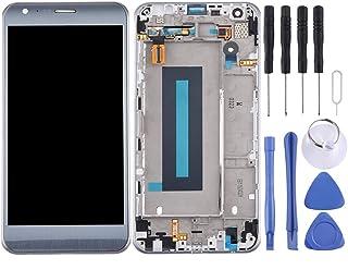 YEYOUCAI Pekskärm digitaliserare för LG LCD-skärm och digitaliserare full montering med ram för LG X Cam / K580/K580I/K580Y