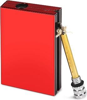 Domary Ferramenta de partida de fogo de fósforo de metal de emergência ao ar livre ignitor de isqueiro de pederneira para ...