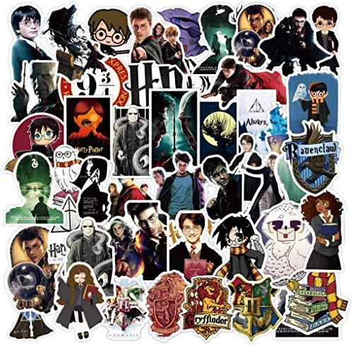 100 Stück Aufkleber für Harry Potter Stickers Cartoon Skateboard Gitarrenaufkleber Laptop Gepäck Wasserflasche PVC wasserdichte Aufkleber