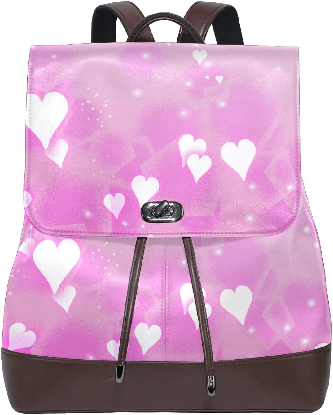 Women Leather Backpack Ladies Fashion Shoulder Bag Travel Large Finally popular brand Boston Mall