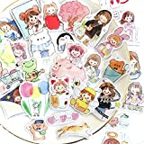 160Pcs Stickers Set Vintage Cartoon Girls Journal Stickers for Planner DIY Crafts Embelishment Decoration Diary Stickers