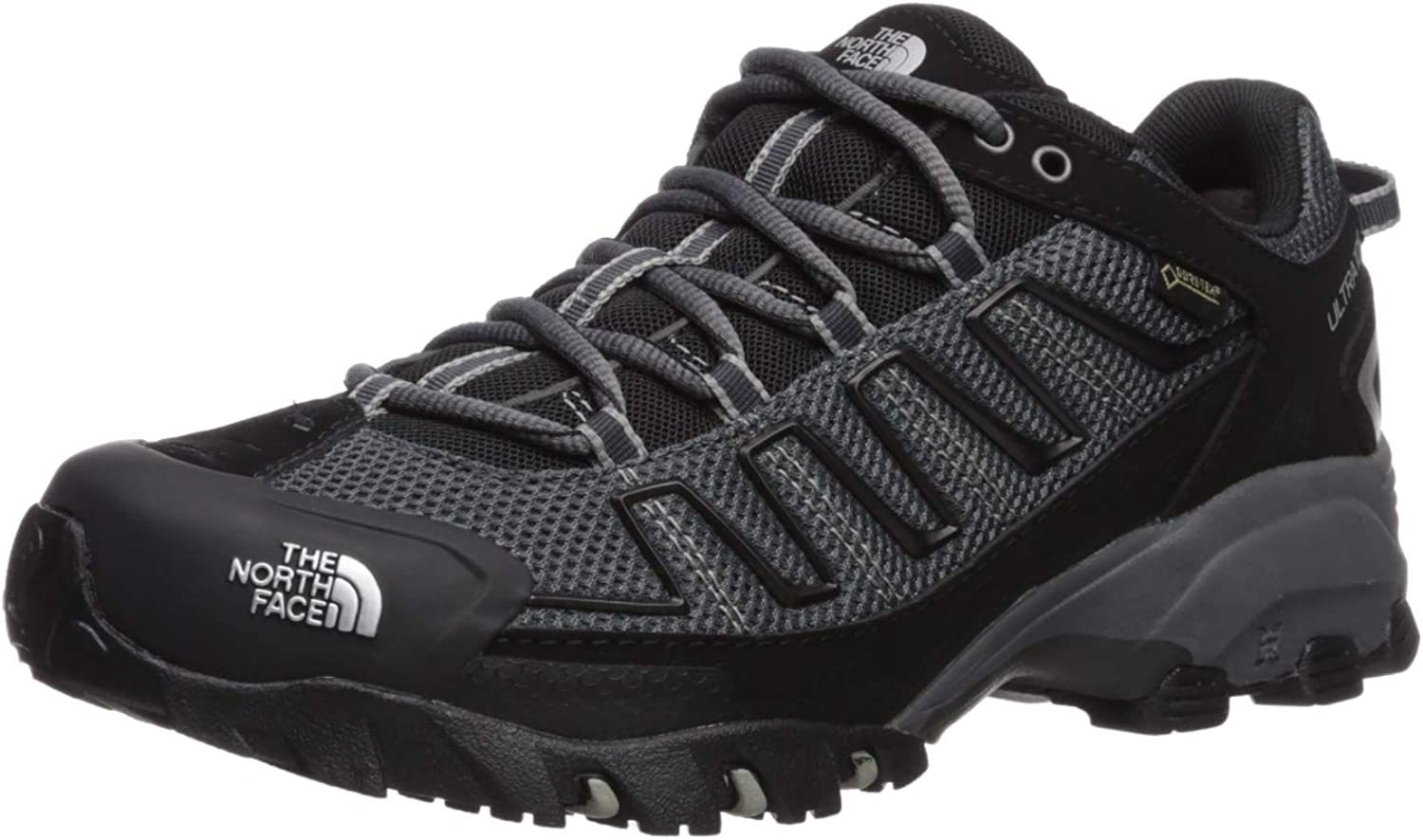 Men's The North Face Ultra 109 GTX Trail Running shoes TNF Black Dark Shadow Grey Size 11 M US