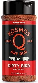 Kosmos Q Dirty Bird BBQ Rub | Savory Blend | Great on Chicken, Pork, Steaks & Brisket | Best Barbecue Rub | Meat Seasoning & Spice Dry Rub | 11 oz Shaker Bottle