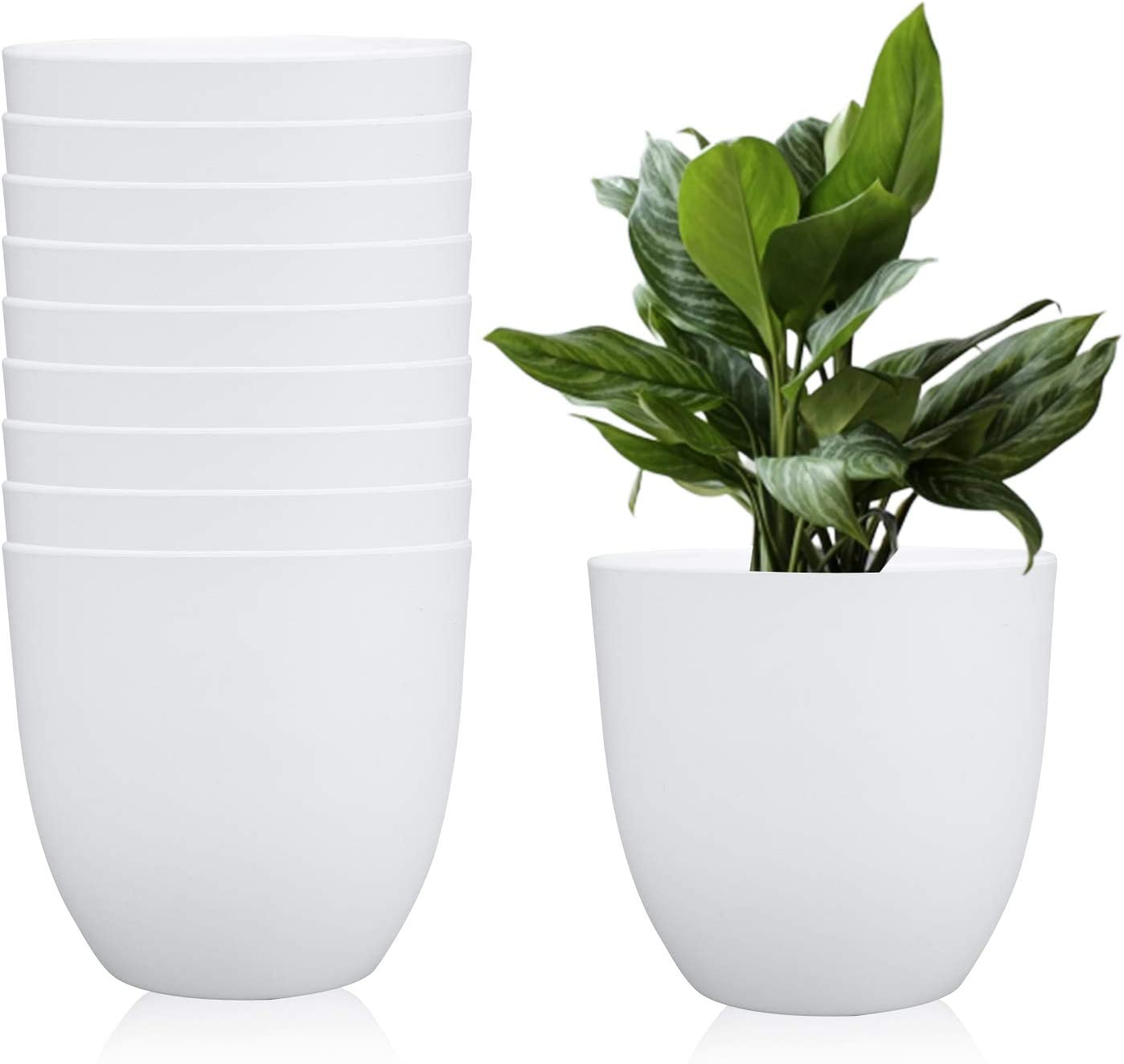 6.3 Inches Over item handling Plastic Round Garden NEW before selling Fashionable Pot Planters Plant