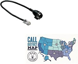 Kenwood Mic Adapter, Round mic to Modular Radio and Ham Guides TM Pocket Reference Card Bundle