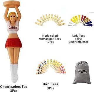 POSMA GTS001 Multi Series Tee bundle set with 3pcs Cheerleaders Tee + 12pcs nude naked woman golf tees + 12pcs lady tees + 3 pcs bikini tees + 1pc Flannel Storage bag