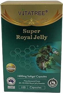 VitaTree Super Royal Jelly 1600mg 6% 10-HDA 100 Softgel Capsules - Made in Australia