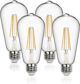 Vintage LED Edison Bulbs 60 Watt Equivalent 6W Dimmable LED Filament Light Bulb 600 Lumen Soft
