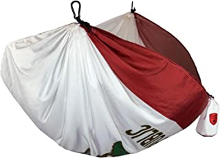 Grand Trunk Flag Series Single Parachute Nylon Hammock: Portable with Carabiners and Haning Kit: Perfect for Outdoor Adventures, Backpacking, and Festivals