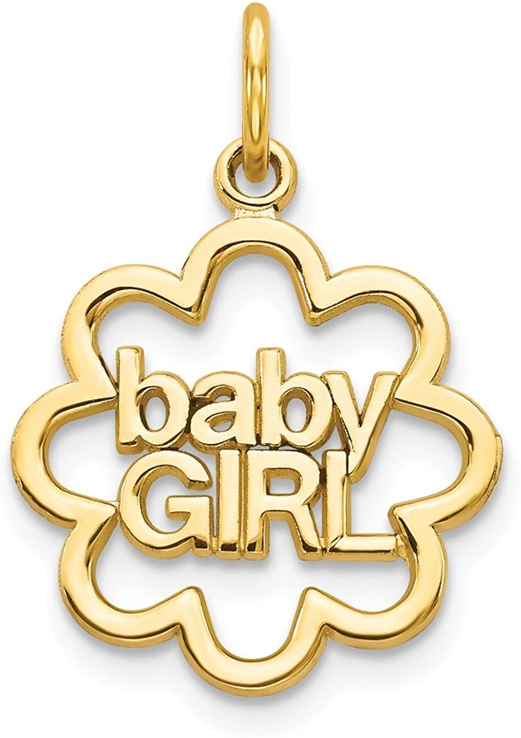 Beautiful Yellow gold 14K Yellowgold 14k Baby Girl Charm