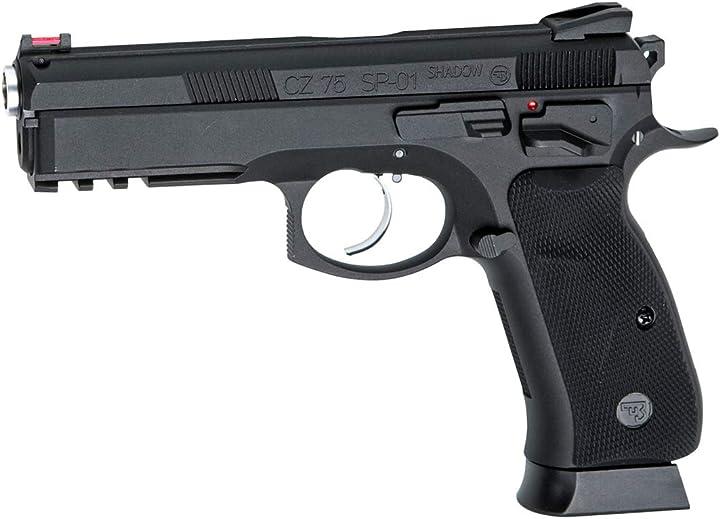 Pistola softair cezka sbrojovka cz75 sp-01 shadow full metal scarrellante green gas B07ZDHQPB7
