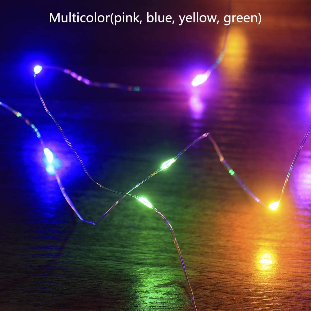 16.5Ft//5m 50 LEDs Green Fairy Lights for St.Patricks Day Decorations Irish Party Christmas Halloween Decor Mankinlu 4 Pack Green St Patricks Day String Lights Battery Powered Set of 4,Green