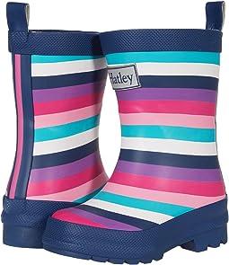Pretty Stripes Matte Rain Boots (Toddler/Little Kid)