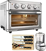 Cuisinart TOA-60 Convection Toaster Oven Air Fryer w/Light (Silver) with Ultimate Kitchen Bundle Includes Mini Food Processor, 5-Piece Knife Set & Cutting Board