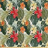 Lunarable Leaf Stoff by The Yard Hawaiian Sommer Tropische