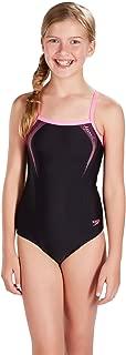 Speedo Sports Logo Thinstrap Muscleback Girls Swimsuit
