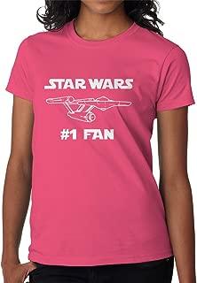 BBT Womens Funny Star Wars #1 Fan Star Trek T-Shirt Tee
