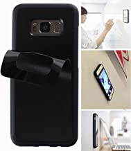 Goat Case for Galaxy S8 with Dust Proof Film, Magic Nano Hands Free Stick to Wall Anti-Gravity Case Black Anti Gravity Case for Galaxy S8