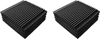 XIANBAO عزل الصوت رغوة القطن امتصاص الصوت، 8 قطع الضوضاء تخفيض المواد تسجيل داخلي استوديو الاستوديو امتصاص مجلس Home Theaters