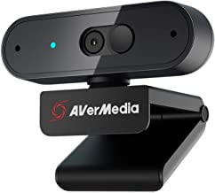 AVerMedia PW310P Webcam - Full 1080p HD Camera with Autofocus and Dual Stereo Microphones