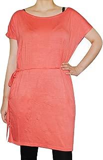Women's Famous Pocket Short Sleeve Bamboo Shirt Dress Regular Fit