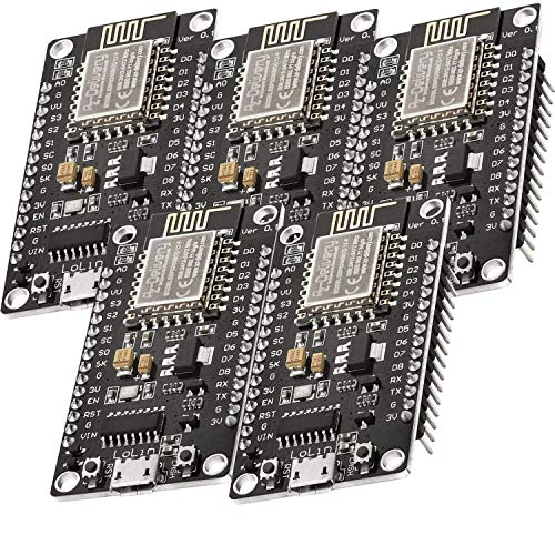 AZDelivery 5 pcs NodeMCU Lolin V3 Modulo ESP8266 ESP-12F WIFI con CH340 Tarjeta de Desarrollo Wifi 2.4 GHz con E-Book incluido!