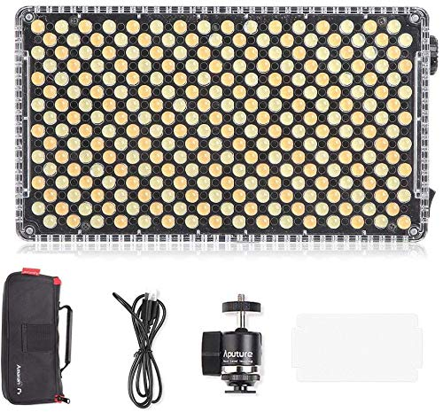 Aputure Amaran AL-F7 On Camera LED Video Light Color Temperature 3200-9500K CRI/TLCI 95+ Led Panel Versatile On-Camera LED Light (Updated Version of Aputure Al-H198 )