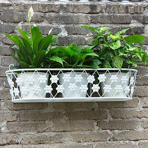 rek, wit muur opknoping ijzer bloem standaard bloem rek Europese creatieve moderne eenvoudige opknoping mand bloempot rack woonkamer opslag plank GLF