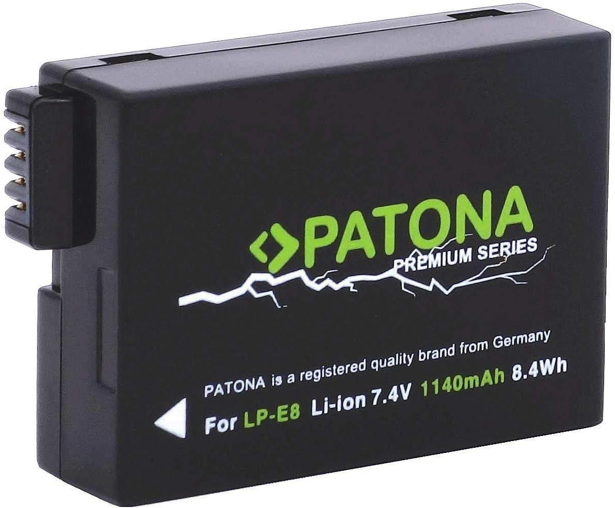 Patona Premium Ersatz Für Akku Canon Lp E8 Mit Kamera