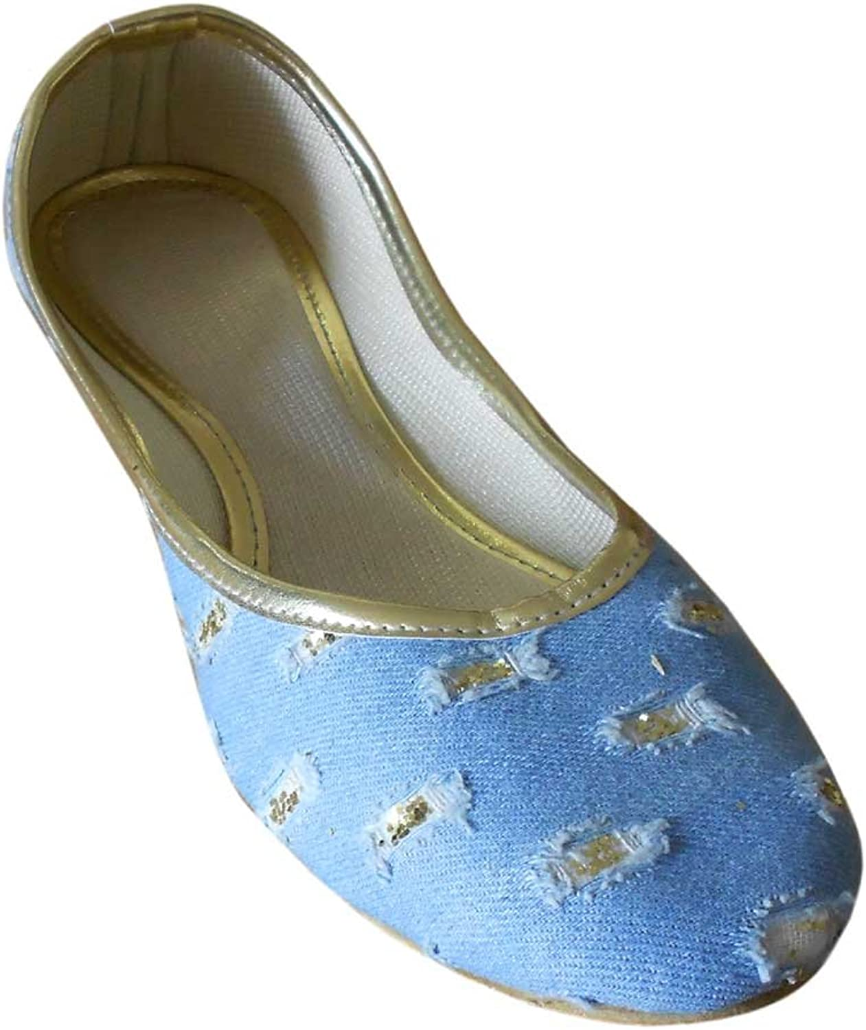 Kalra Creations Women's Traditional Indian Cotton Cloth Ethnic shoes