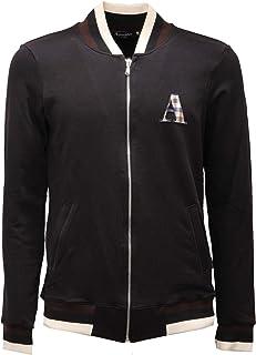Aquascutum A Logo Zip Sweater Black Jacket