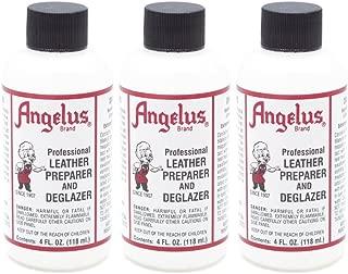 Angelus Leather Preparer & Deglazer 4 Oz (Pack of 3)