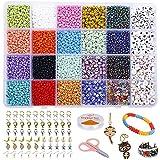 Cuentas de Cristal Colores, Perlas Para Pulseras Letras Cuenta 3mm, DIY Abalorios de Cristal Para Hacer Pulseras Encanto Bisutería Niños Adultos
