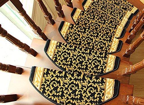 Eastery Yxhz Europäische Art Treppen Teppich Freie Plastik Selbstklebende rutschfeste Feste Einfacher Stil Hölzerne Treppen Auflage Treppe Teppich Decke rutschfest (Größe 0.65 * 0.24M)