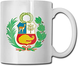 NA Peru Funny Gift Mug - Taza de cerámica Blanca, 11 oz