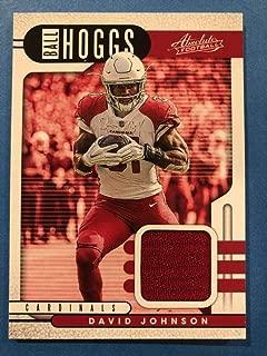 2019 Absolute Football Ball Hoggs Relics #10 David Johnson Jersey Piece Arizona Cardinals Official Panini NFL Trading Card