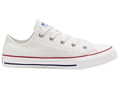 Converse Kids Chuck Taylor All Star (Little Kid/Big Kid) (White/Garnet/Midnight Navy) Girl