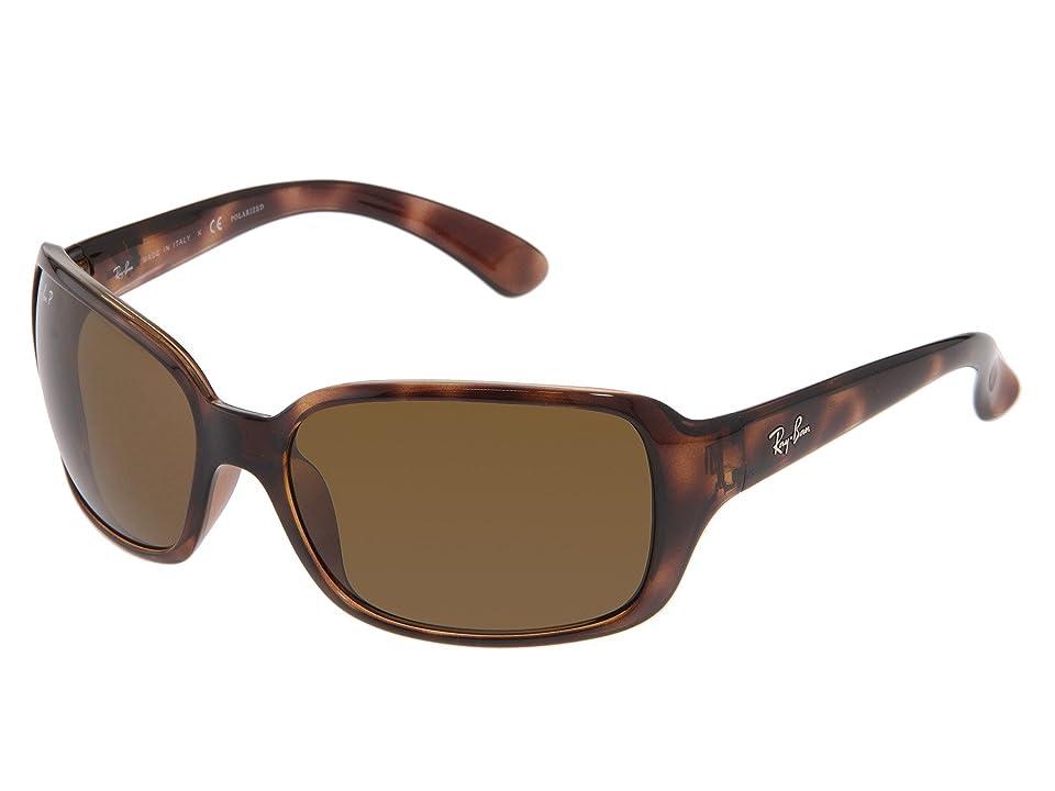 Ray-Ban RB4068 Polarized (Havana/Natural Brown Polarized Lens) Sport Sunglasses