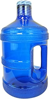 1 Gallon BPA Free Reusable Plastic Drinking Water Big Mouth Bottle Jug Container with Holder Drinking Canteen