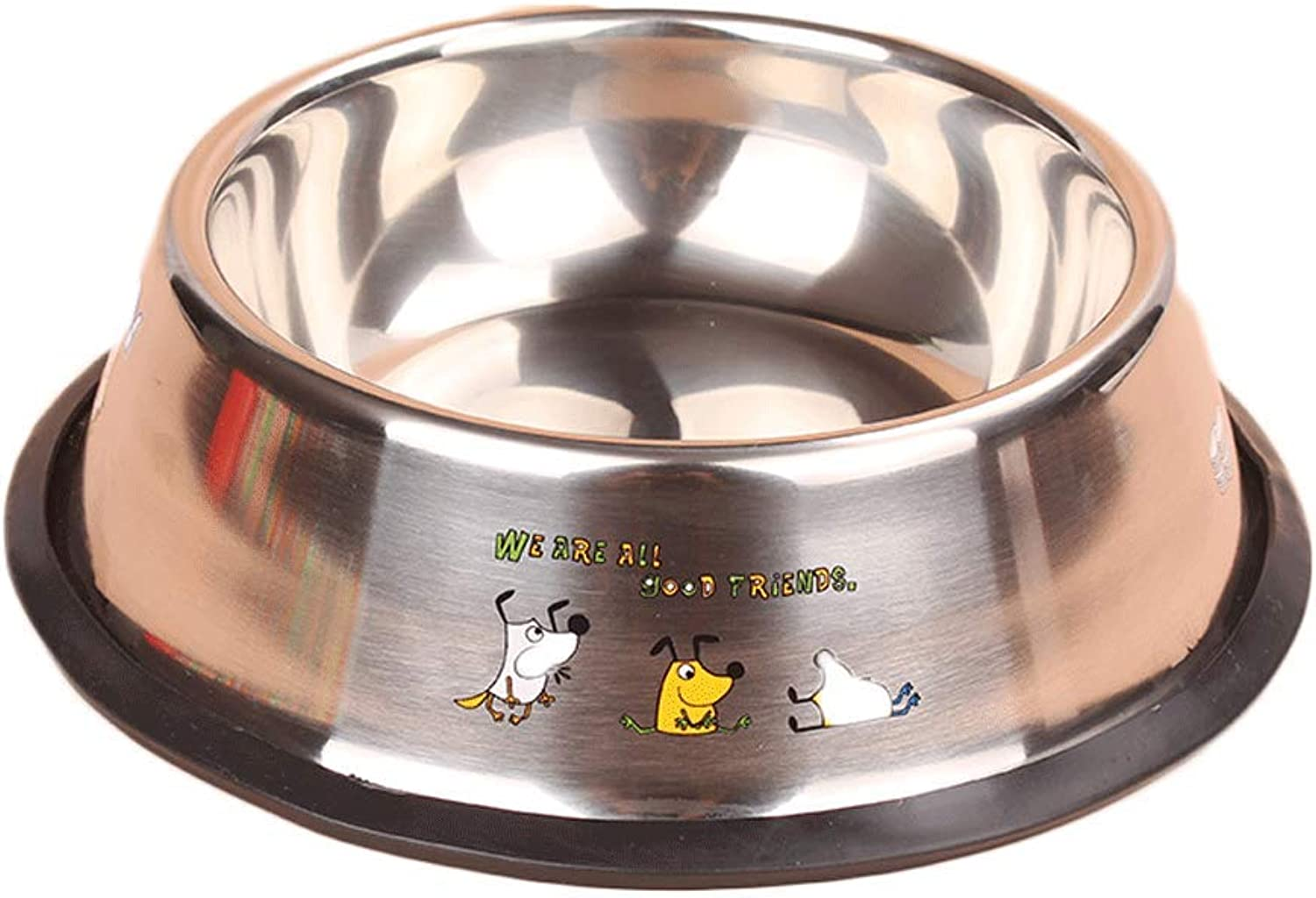46 Size Stainless Steel Pet Bowl Cat Dog Bowl Bowl Pet Supplies (Size   4)