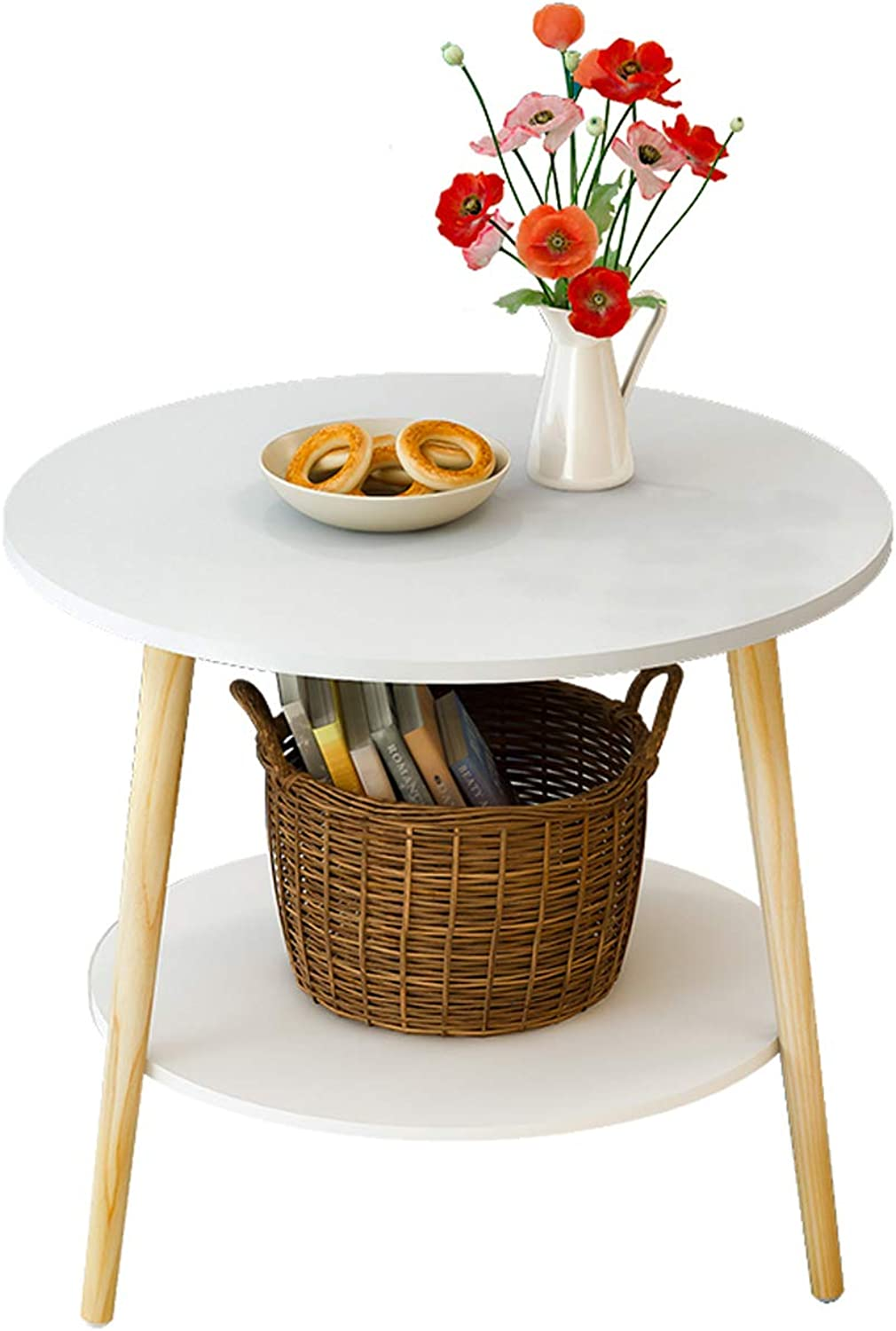 Modern Small Round Table, Folding Coffee Table, Sofa Side Cabinet, Bedside Table