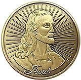 chenchen Europa y América Viernes Santo Medalla de Bronce Verde Moneda Coleccionable Moneda de fe Moneda de Oro de Pascua Moneda Conmemorativa Copia de Regalo para él