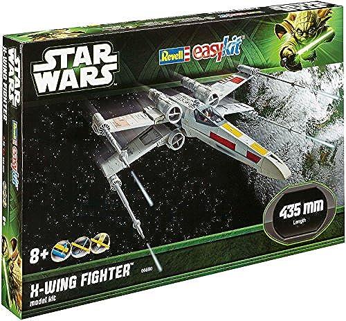 Revell 06690 Modellbausatz Star Wars X-Wing Fighter im Ma ab 1 29, Level 2, originalgetreue Nachbildung mit vielen Details, Stückmechanismus, mit vorbemalten und vordekorierten Teilen