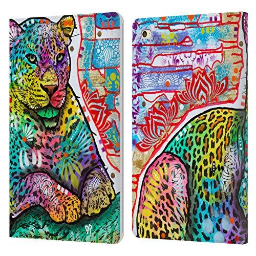 Head Case Designs Oficial Dean Russo Leopardo eléctrico Vida Silvestre 4 Carcasa de Cuero Tipo Libro Compatible con Apple iPad Mini 4