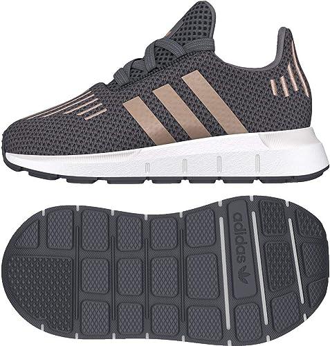 Adidas Swift Run I, Chaussures de Fitness Mixte Enfant, gris (Gricin Cobmet Ftwbla 000), 25.5 EU